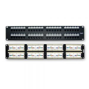 CAT 6 48-Port Patch Panel Rackmount - Front & Back View