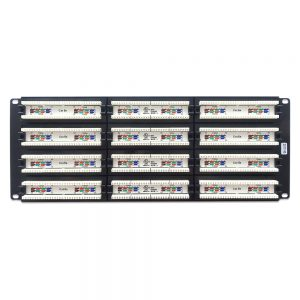 CAT 6 96-Port Patch Panel Rackmount - Back View