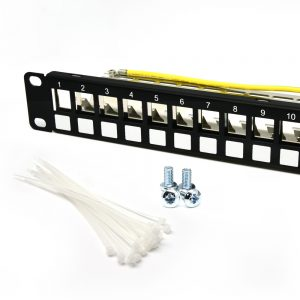 1U 24-Port CAT 5E/6/6A STP Blank Patch Panel
