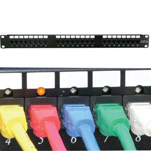 24-Port CAT 6 110 Patch Panel Rackmount with LED Indicator
