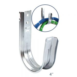 Universal 4 Inch J-Hook Wall Mount Cable Support - Implementation View